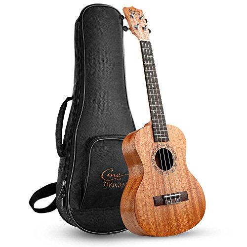 Hricane Tenor Ukulele UKM-3 26 Zoll Traditionelle Mahagoni Ukulele Hawaiische Gitarre mit Groß Tasche [Tenor]
