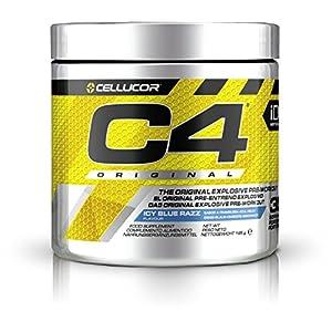 51Albp3EtXL. SS300  - C4 Original Pre Workout Powder Icy Blue Razz| Preworkout Energy Drink Supplement | 150mg Caffeine + Beta Alanine + Creatine Monohydrate | 30 Servings