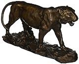 Design Toscano EU6563 Statue de Tigre à l'affût, Bronze, 11,5 x 39,5 x 21,5 cm