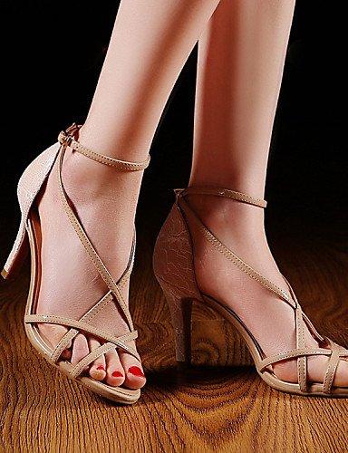 UWSZZ IL Sandali eleganti comfort Scarpe Donna-Sandali-Matrimonio / Formale / Serata e festa-Tacchi-A stiletto-Finta pelle-Nero / Bianco White
