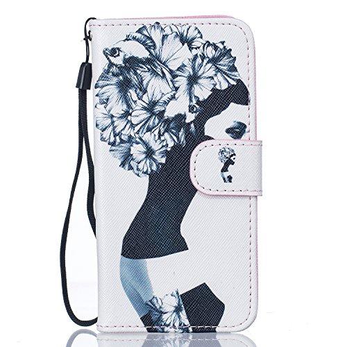 Voguecase® Pour Apple iPhone 7 4,7 Coque, Etui Housse Cuir Portefeuille Case Cover (Fille Masked)de Gratuit stylet l'écran aléatoire universelle Fille Masked