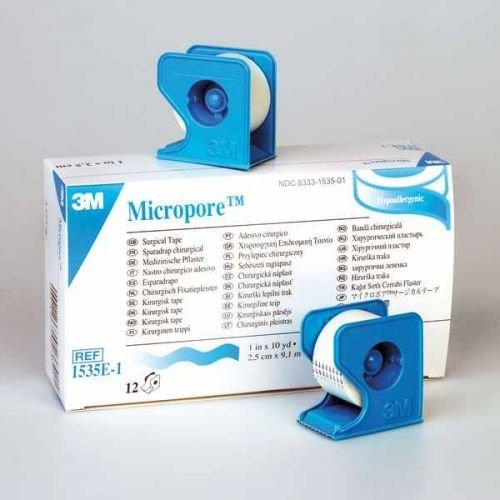 Micropore im Spender Jumborolle 3M 1,25 cm x 9,10 m - rollenpflaster rollenpflaster selbsthaftend pflaster rolle fixierpflaster fixierpflaster sensitive