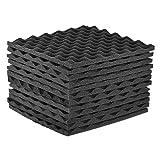 Anself Soundproof Sponge, 12pcs Studio Acoustic Panels Sound Insulation Foams 30 x 30cm