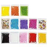 Vi.yo Styropor-Kugeln in mehreren Farben, bunter Füllstoff, ideale Dekoration, für Kunst, zum Basteln, 13 Packungen B