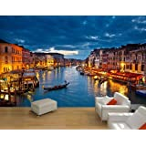 Papel Pintado Fotográfico Canale Grande Venedig Papel pintado XXL–cuadro de cola Papel pintado, papel, S 200 x 140cm - 4 Teile