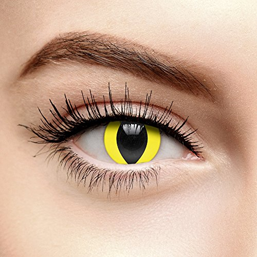 EDIT 90 Tage UV Farbige Kontaktlinsen Ohne Stärke (i-Glow Yellow Cat)