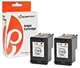 Bubprint 2 Druckerpatronen kompatibel für HP 336 HP336 für Deskjet 5440 Officejet 6300 6310 6315 Photosmart 2575 7850 C3100 C3180 PSC 1500 1510 Black