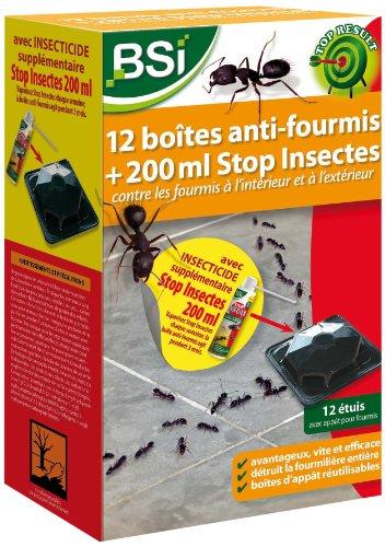 BSI 17812 Boîte anti-fourmi 12 pièces avec Stop Insectes 200 ml