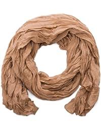 style3 Unifarbener Crinkle-Schal mit Knitter-Effekt in den Trendfarben des Jahres