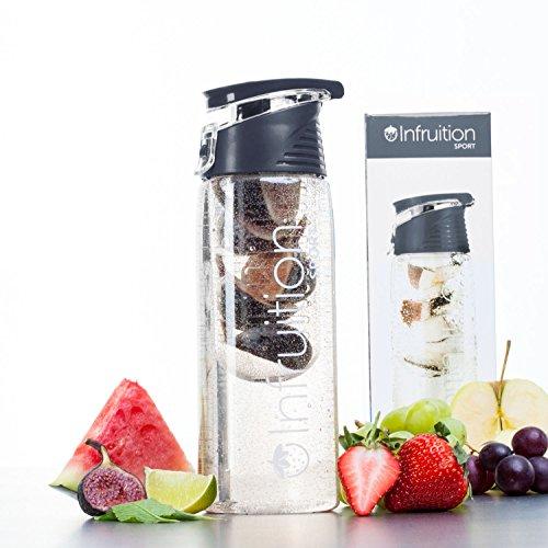 Infruition Sport Obst angereichertes Wasser-Flasche - 700ml - Koksgraue