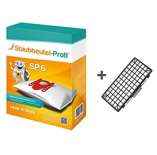 10 Staubbeutel + HEPA-Filter geeignet für Bosch BGB8M435 von Staubbeutel-Profi®