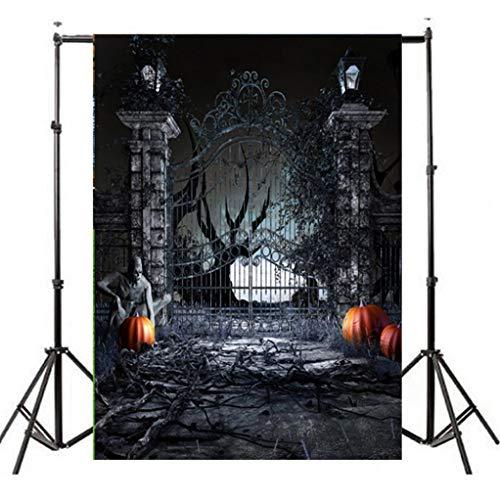 VEMOW Heißer Halloween Backdrops Kürbis Vinyl 3x5FT Laterne Hintergrund Blackout Fotografie Studio 90x150cm(Mehrfarbig, 90x150cm) (Gruppe Ideen Halloween Kostüme Für)