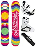 AIRTRACKS DAMEN SNOWBOARD SET - BOARD PINTO 156 - SOFTBINDUNG SAVAGE W - SOFTBOOTS STRONG W 40 - SB BAG