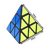#6: Pyraminx Pyramid Triangle Speed Cube Puzzles Professional Rubik s Magic Cube Stickerless Black