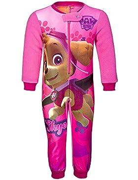 Mädchen Schlafanzug, Overall Pyjama Paw Patrol Print Reißverschluss Schlafanzug