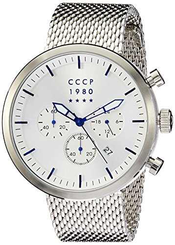 CCCP Men's Kashalot 44mm Steel Bracelet & Case Quartz Analog Watch CP-7007-11