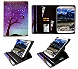 Sweet Tech Huawei Honor WaterPlay 8 Inch Tablet Nachthimmel Universal 360 Grad Drehung PU Leder Tasche Schutzhülle Case (7-8 Zoll