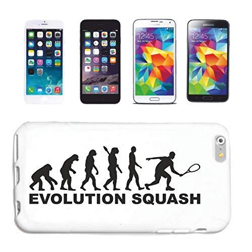 Helene Handyhülle Samsung Galaxy S4 Mini Squash - SQUASHSCHLÄGER - SQUASHSPIELER - SQUASHHALLE - Squash Ball Hardcase Schutzhülle Handycover Smart Cover für Samsung Galaxy S4 Mini in Weiß