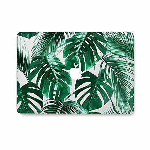 AQYLQ MacBook Schutzhülle/Hard Case Cover Laptop Hülle [Für MacBook Air 13 Zoll: A1369/A1466], Ultradünne Matt Plastik Hartschale Schutzhülle, ZLY-9 Palmblatt Hard Case Cover