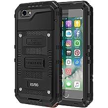 impermeable Funda iPhone 5 / 5S / SE, seacosmo cuerpo completo militar Rugged Heavy Duty a de Golpes protectora a prueba de agua carcasa con protector de pantalla, Negro