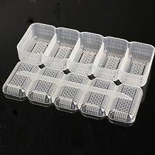 Tenflyer Nigiri Sushi Molde Bola de arroz 5 Rolls Hacedor Prensa Herramienta Bento antiadherente