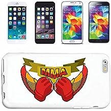 """caja del teléfono Samsung Galaxy S6 """"MMA ARTE material mezclado pelea de MMA FIGHT MIXTO DEL MATERIAL DE ARTES DE CALLE Fightclub karate Boxeo Kick Boxing JUDO"""" Caso duro de la cubierta Teléfono Cubiertas cubierta para el Samsung Galaxy S6 en blanco"""