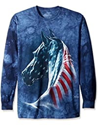 The Mountain Adult Tete Cheval Patriotique T Shirt ManchLong