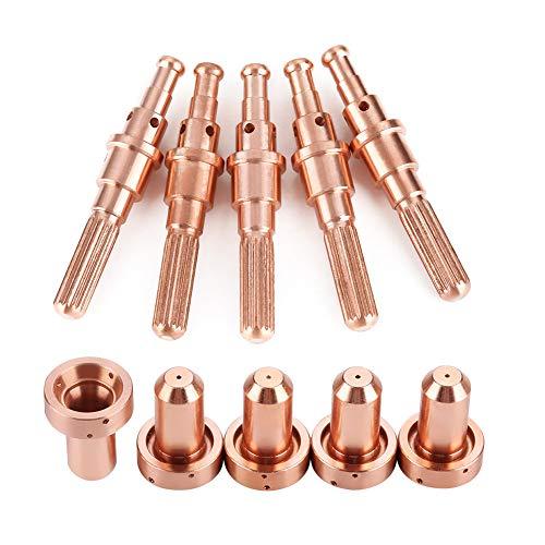 Acogedor Plasmadüsen , 5pcs 9-8215 Elektrode + 5 Stück 9-8210 Düsenspitzen für Thermal Dynamics SL60 / 100 Plasmabrenner (Plasmaschneider Thermal Dynamics)