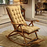 RXF Rechteckiges Sitzkissen Rutschfeste gepolsterte verstellmatte innen und außen schaukelstuhl Kissen Hause Sofa Baumwolle pad-2 größe (Farbe : Gelb, größe : 48x125cm)