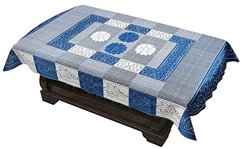 Yellow Weaves Designer Center Table Cover 4 Seater 40X60 Inches (Blue)