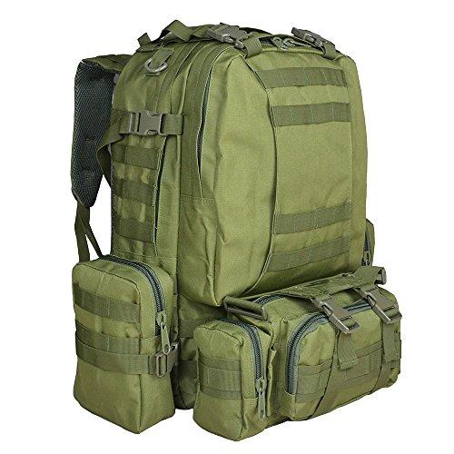 Imagen de  táctica militar versión actualizada, topqsc  de moda 55l múltiples colores para senderismo montañismo marcha macuto al aire libre bolsa de viaje de calidad alta verde militar  alternativa