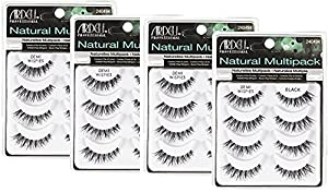 (4 Pack) ARDELL Professional Natural Multipack Demi Wispies Black