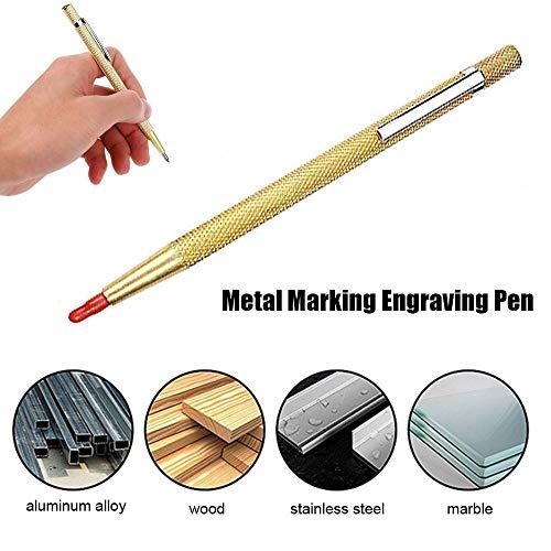 1pc diamante penna per incisione su metallo marcatura in metallo duro punta in carburo di tungsteno scriber penna per utensili da intaglio in legno metallo ceramica ceramica