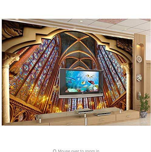 Fyyanm Om 3D Wallpaper Luxus N Kirchen Hintergrund Foto Wand L 3D Stereoskopische Tapete Für Wohnzimmer