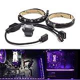 wowled für Desktop-Computer Beleuchtung LED RGB Strip PC Gaming, Gamer DIY Kompatibel mit Aura Synchronisieren und M/B mit 4pol RGB Header, 230cm mit Magnet