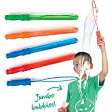 Baker Ross Giant Bubble Wands, Perfect for Kids to Play Solo or With Friends, Ideal for Outdoor Use (Pack of 4)