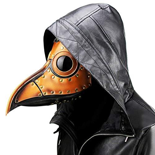 SJZQ Plague Doctor Vogel Maske Lange Nase Vogel Schnabel Steampunk Halloween Kostüm (Große Vogel Teen Kostüm)