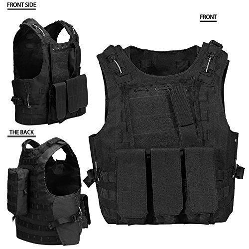 Keelied Tactical Vest Taktische Einsatzweste Militär Schutzweste Atmungsaktive für Airsoft CS Field Camping Jagd Verstellbare Taille mit einstellbarer Größe