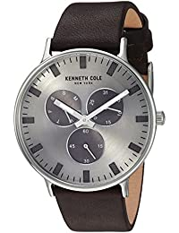 73176cf9c4a Kenneth Cole New York Men s Analog Quartz Watch with Leather Strap  KC14946001