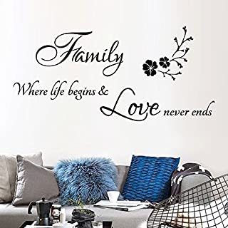 Gaddrt Removable Wall Sticker Family Art Vinyl Mural Home Room Decor Wall Stickers (CC)