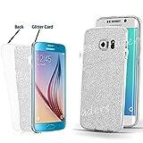 Ultra Thin Transparent TPU Gel Schutzhülle Samsung Galaxy S7s7edge S6s6edge S5J3J5A3, Clear(Bling Glitter Back), Samsung Galaxy S7 Edge