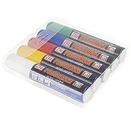 Posterman - Confezione da 5 pennarelli a gesso liquido, 15 mm, colori assortiti