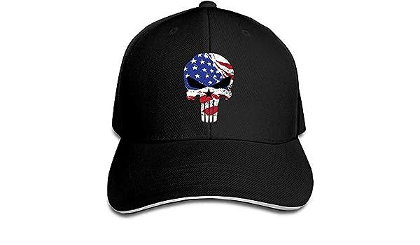 Hittings Sniper Chris Kyle Punisher American War Drama Flex Baseball Cap Black Black