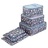 Organizadores para maletas, Kfnire 6pz organizador de equipaje de viaje ropa multifuncional paquetes de clasificación (azul)