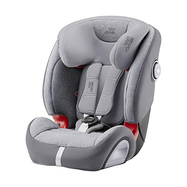 Britax Römer Evolva 1-2-3 Sl Sict Group 1-2-3 (9-36Kg) Car Seat  This EVOLVA 1-2-3 SL SICT will come in a Grey Marble design cover which is made from a more premium fabric with extra detailing Installation, ISOFIX and a 3-point seat belt, or 3-point seat belt only Enhanced Side Impact Protection (SICT) minimises the force of an impact in a side collision 1