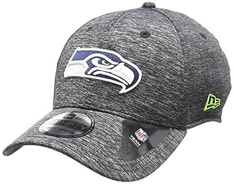 New Era Nfl Striped Jersey 39Thirty Seattle Seahawks, Casquette de Baseball Homme, Gris-Gris, Large