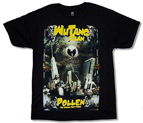 Hanes Bravado Adult Wu Tang Clan Pollen Black Tee Shirt (Small) (T-shirt Album-cover Adult)
