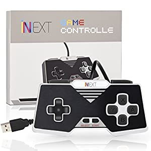 iNNEXT SNES USB Controller Gamepad Retro Game Controller Klasse USB Gamepad PC Spiele für Windows, Mac, Raspberry Pi (Black)