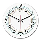 Lovely Wall Clock Wooden Acrylic Print Silent Round Clocks for Living Room Office Home Decor