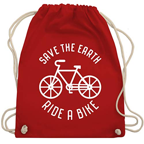 Radsport - Save the earth - Ride a bike - Unisize - Rot - WM110 - Turnbeutel & Gym Bag